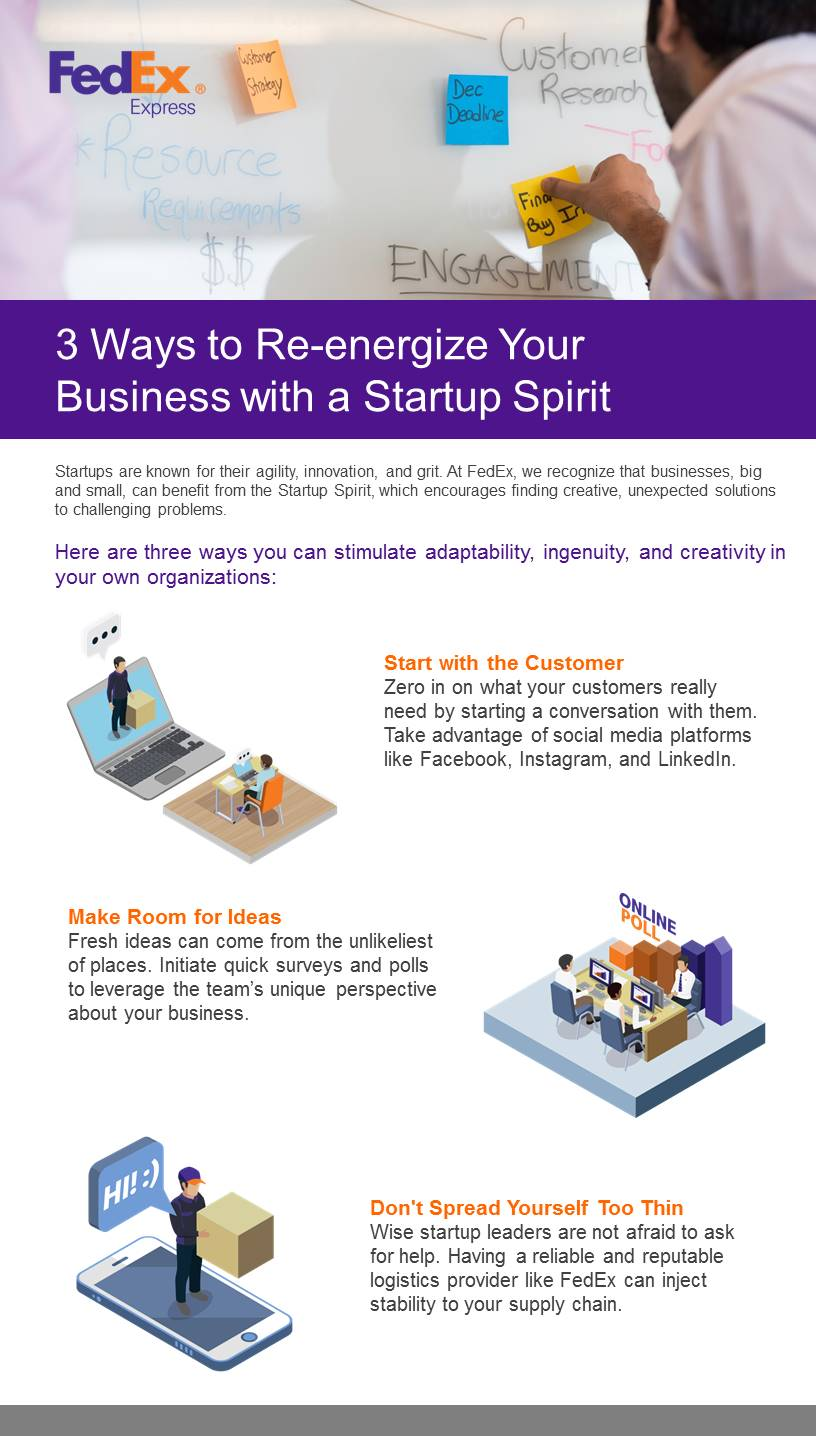 3 ways to re-energize your business with a startup spirit