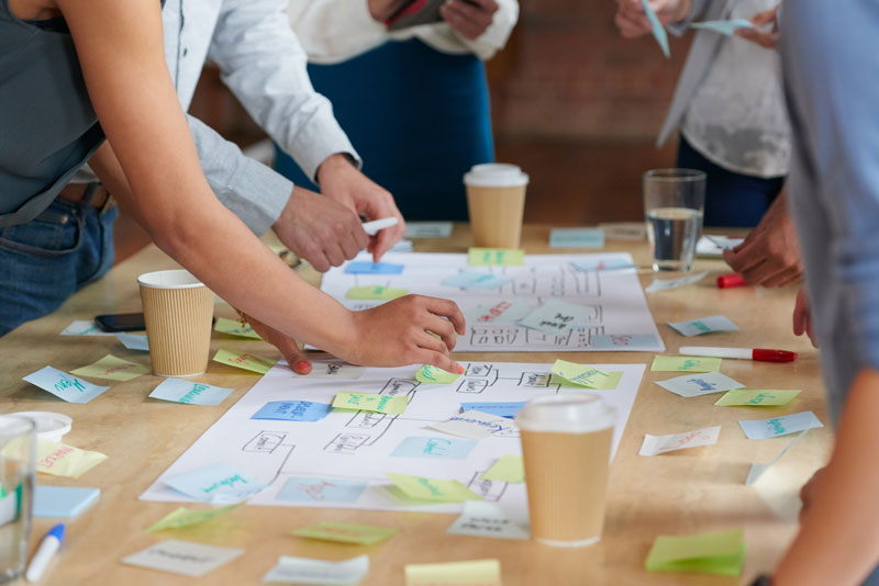 group-of-people-are-brain-storming-together